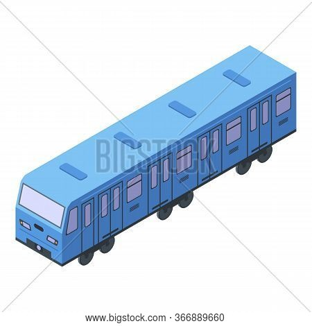 Modern Metro Train Icon. Isometric Of Modern Metro Train Vector Icon For Web Design Isolated On Whit