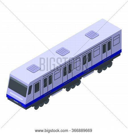 Power Metro Train Icon. Isometric Of Power Metro Train Vector Icon For Web Design Isolated On White
