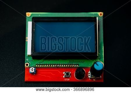 Parts For Assembly Cnc Machine. Display For Controlling The Machine.