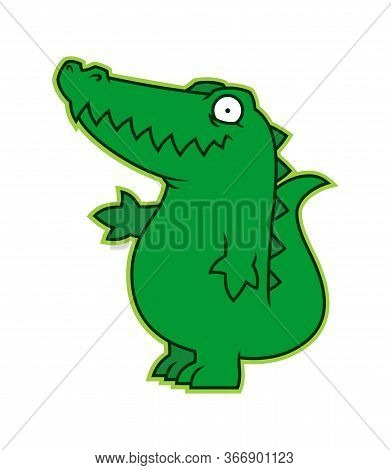 Affable Alligator Or Croc Cartoon Character Mascot