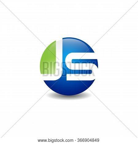 Js Initial Monogram Logo Template. Js Icon, Lettering. Vector Isolated Logo Illustration. Js Letter