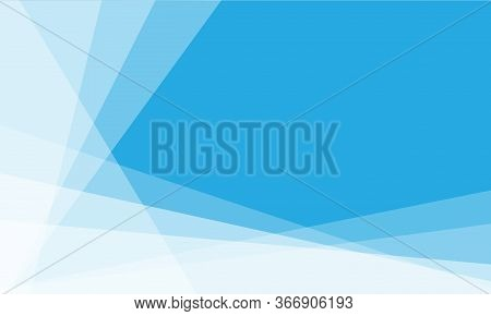 Abstract Background White Triangle Overlap On Blue Blank Space Design Modern Vector Illustration.