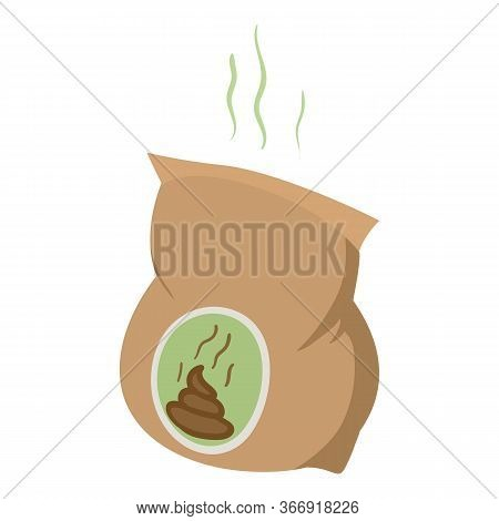 Peat Package Icon. Isometric Of Peat Package Vector Icon For Web Design Isolated On White Background