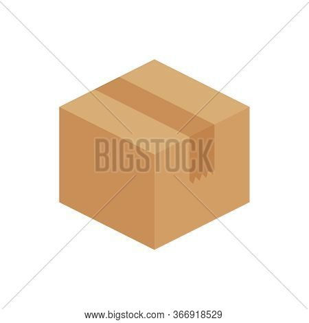 Crate Boxes 3d, Cardboard Box Brown, Packaging Cargo, Isometric Boxes Brown, Packaging Box Brown For