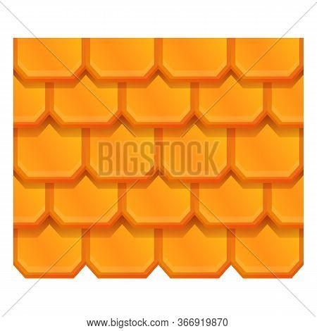 Tile Roof Icon. Cartoon Of Tile Roof Vector Icon For Web Design Isolated On White Background