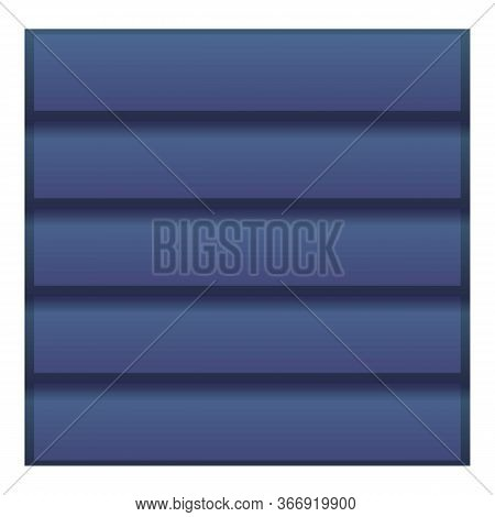 Contractor Blue Roof Icon. Cartoon Of Contractor Blue Roof Vector Icon For Web Design Isolated On Wh