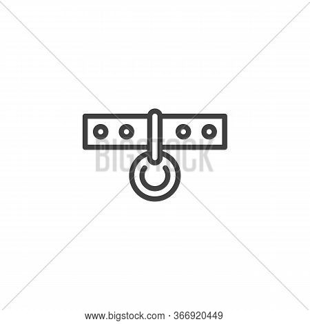 Dog-collar Line Icon. Linear Style Sign For Mobile Concept And Web Design. Pet Dog Collar Outline Ve