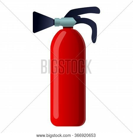 Fire Extinguisher Icon. Cartoon Of Fire Extinguisher Vector Icon For Web Design Isolated On White Ba