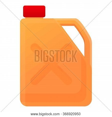 Gasoline Canister Icon. Cartoon Of Gasoline Canister Vector Icon For Web Design Isolated On White Ba