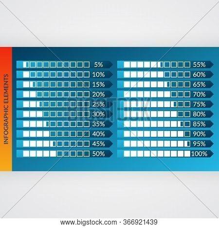 5 10 15 20 25 30 35 40 45 50 55 60 65 70 75 80 85 90 95 100 Percent Charts. Vector Percentage Infogr