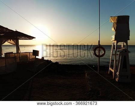 Lifeguard Seat On The Egypt Beach
