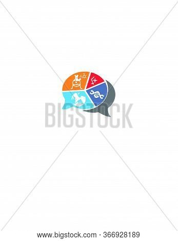 Science And Medical Research Forum In Atomic Logo And Vector Icon