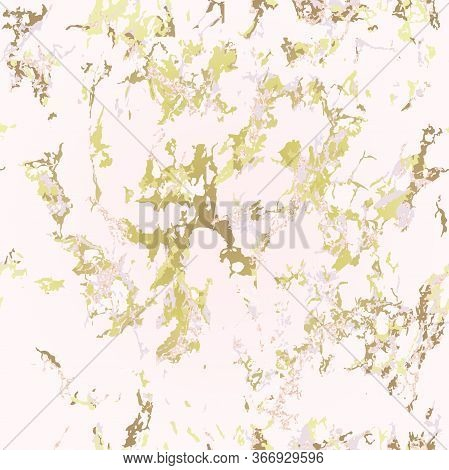Trendy Seamless Pink Marble Background With Gold. Patina Effect. Holiday Background. Blush Color. Ve