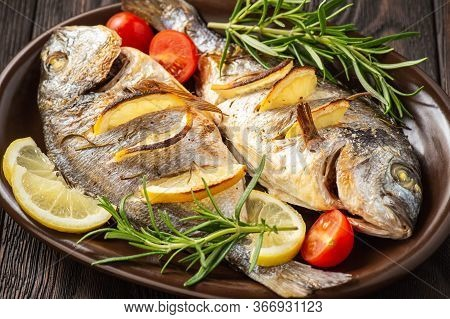 Grilled Gilt-head Bream  With Lemon. And Rosemary.