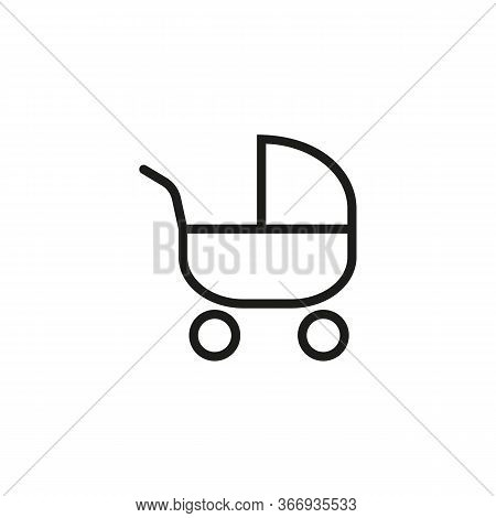 Line Icon Of Stroller. Baby Store, Childcare, Newborn. Baby Concept. Can Be Used For Topics Like Chi