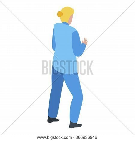 Nurse Cardiologist Icon. Isometric Of Nurse Cardiologist Vector Icon For Web Design Isolated On Whit