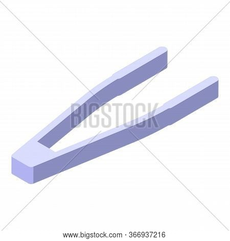 Eye Lens Forceps Icon. Isometric Of Eye Lens Forceps Vector Icon For Web Design Isolated On White Ba