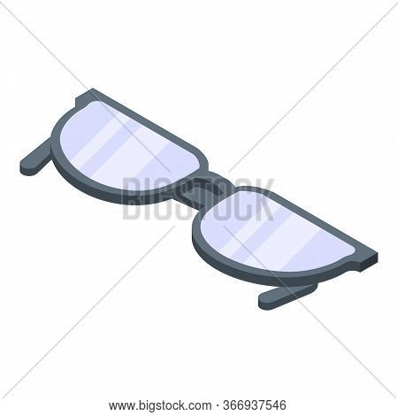 Classic Eyeglasses Icon. Isometric Of Classic Eyeglasses Vector Icon For Web Design Isolated On Whit