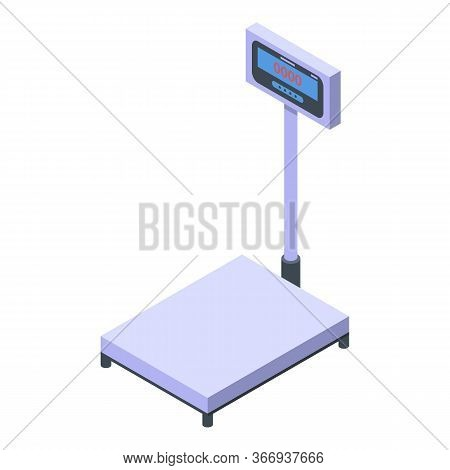 Weigh Scales Icon. Isometric Of Weigh Scales Vector Icon For Web Design Isolated On White Background