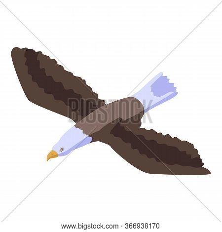 Falcon Eagle Icon. Isometric Of Falcon Eagle Vector Icon For Web Design Isolated On White Background