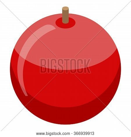 Fresh Red Apple Icon. Isometric Of Fresh Red Apple Vector Icon For Web Design Isolated On White Back