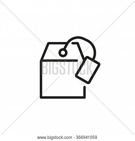 Line Icon Of Teabag. Packeted Tea, Breakfast, Beverage. Tea Concept. Can Be Used For Topics Like Dri