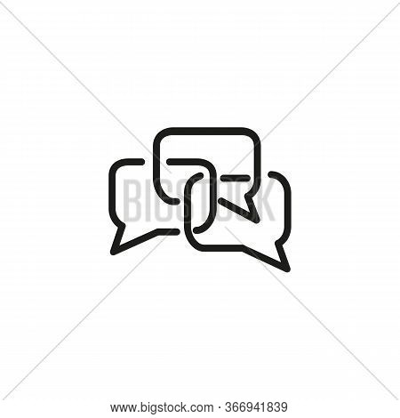 Line Icon Of Talk Bubbles. Chatting, Forum, Online Discussion. Networking Concept. Can Be Used For T
