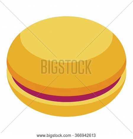Macaroon Icon. Isometric Of Macaroon Vector Icon For Web Design Isolated On White Background