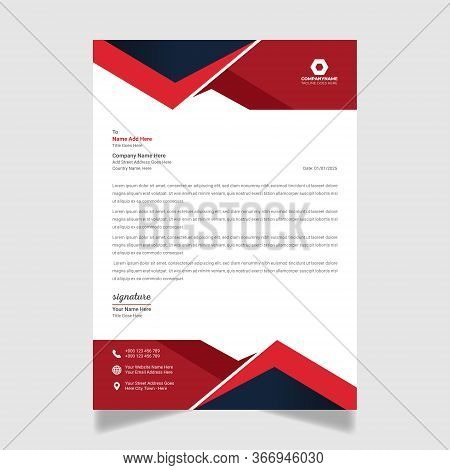 Corporate Abstract Business Letterhead Modern Business Letterhead Design Template.set To Print, Vect