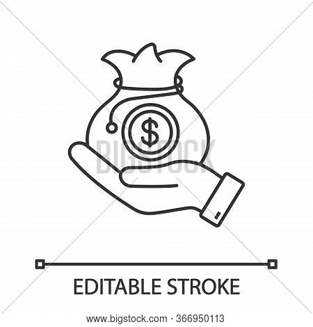 Venture Capital Linear Icon. Business Funding, Budgeting. Thin Line Illustration. Investment. Privat