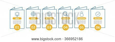 Goal Setting And Achieving Vector Infographic Template. Dream Job. Business Development. Idea Realiz