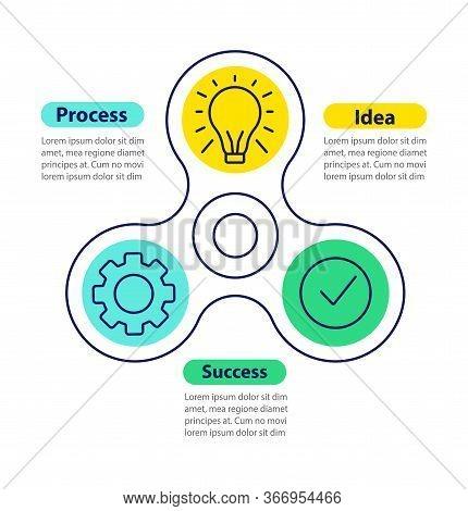 Idea Realization Vector Infographic Template. Project Management. Business Presentation Design Eleme
