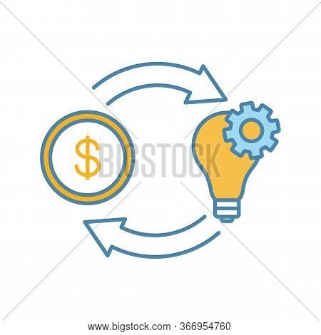 Crowdfunding Color Icon. Fundraising. Project Funding. Financing And Budgeting. Isolated Vector Illu