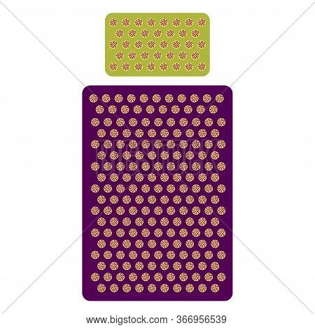 A Set Of Massage Mattres For Massage And Self-massage. Vector Illustration.