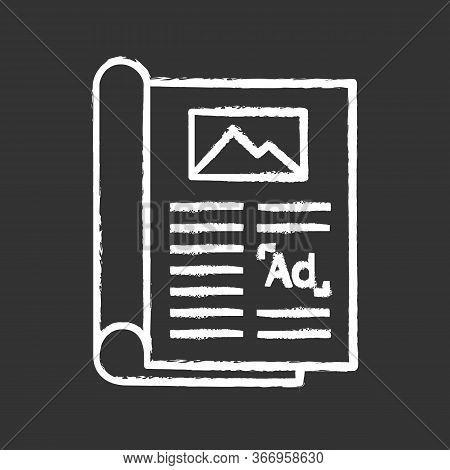 Article Chalk Icon. Print Advertising. Newspaper, Magazine Column. Article Marketing. Print Media. I