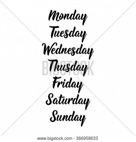 Days Of The Week - Sunday, Monday, Tuesday, Wednesday, Thursday, Friday, Saturday. Days Of The Week.