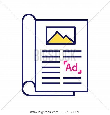 Article Color Icon. Print Advertising. Newspaper, Magazine Column. Article Marketing. Print Media. I