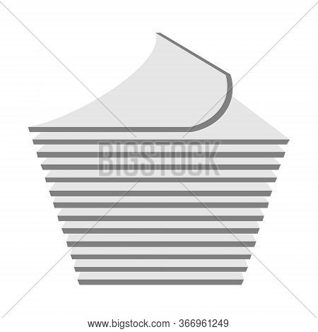 Stack Of Paper Line Icon. Linear Style Sign For Mobile Concept And Web Design. Pile Of Document File