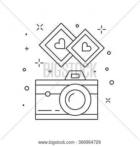 Love Camera For Instant Photo Line Icon