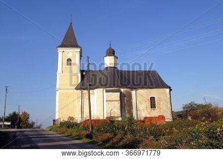 GORNJA RIJEKA, CROATIA - OCTOBER 01, 2012: Church of St. Francis Xavier in Gornja Rijeka Croatia
