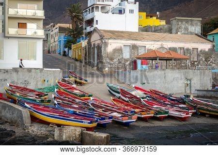 Ponta Do Sol/cape Verde - August 12, 2018 - City Harbor In Santo Antao Island