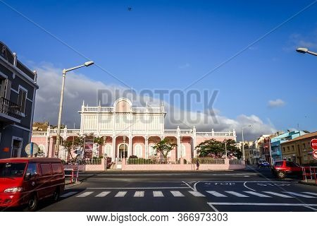 Mindelo/cape Verde - August 20, 2018 - Government Palace In Sao Vicente