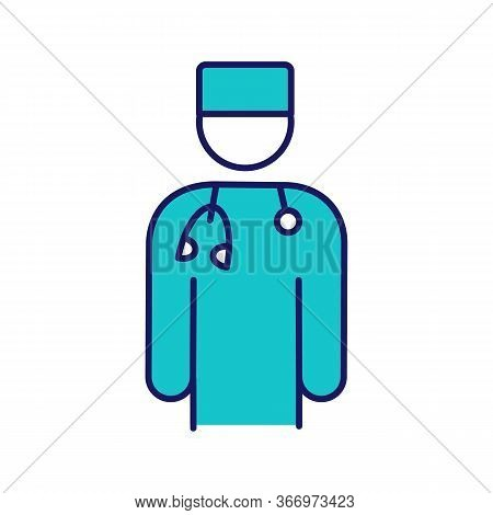 Doctor Color Icon. Psychotherapist, Psychologist, Neurologist. Medical Worker. Practitioner. Stress