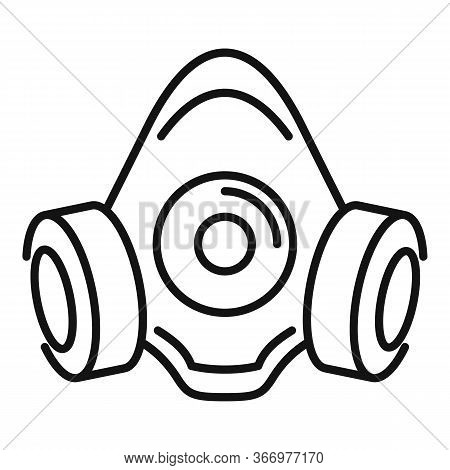 Gas Mask Icon. Outline Gas Mask Vector Icon For Web Design Isolated On White Background