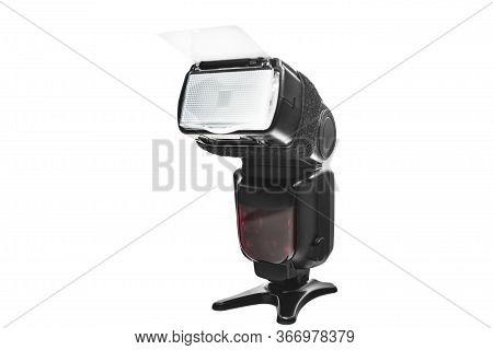 Digital Camera Flash Isolated On The White Background