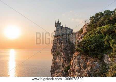 Swallows Nest Castle In The Morning Sun, Crimea