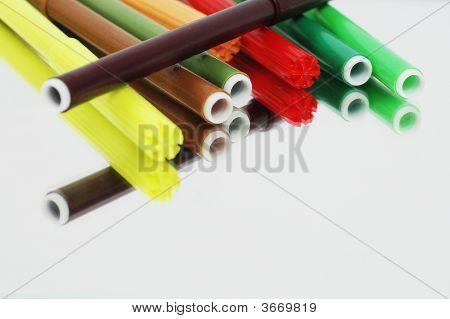 Coloured Pen On A Mirror