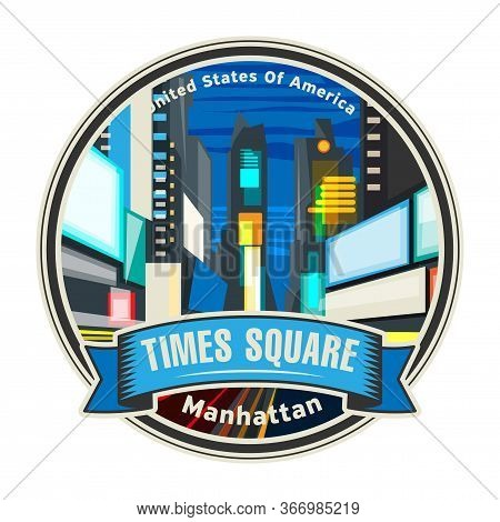New York, Times Square, Entertainment Center And Neighborhood In The Midtown Manhattan, United State