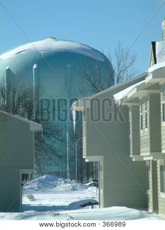 Winter Watertower