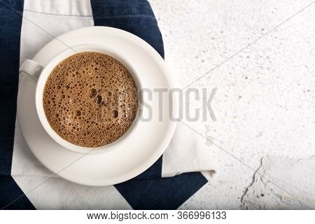 Theobroma Cacao - Hot Chocolate Drink. Text Space